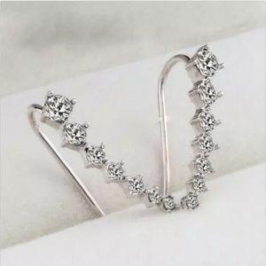 Rhinestone Cuff Earrings NWoT